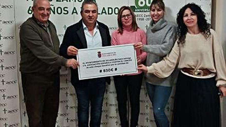 Villaralbo, solidario con la AECC