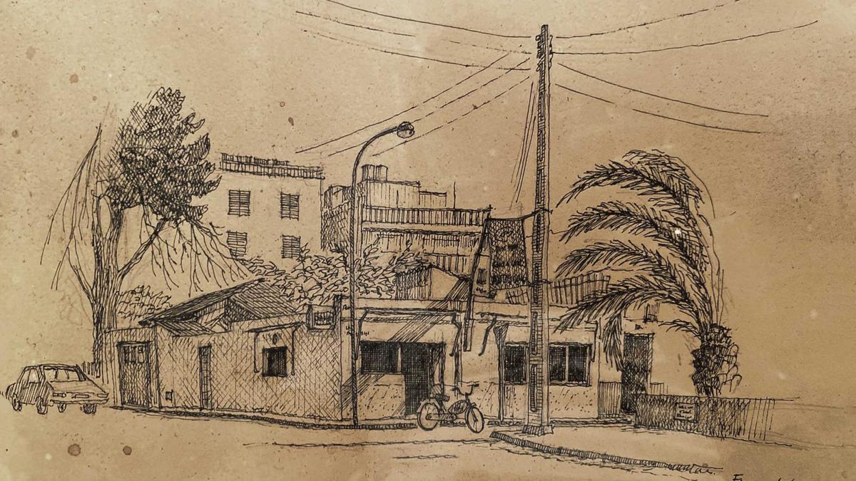 Dibujo de Casa Fernando, restaurante  ubicado en Ciudad Jardín.