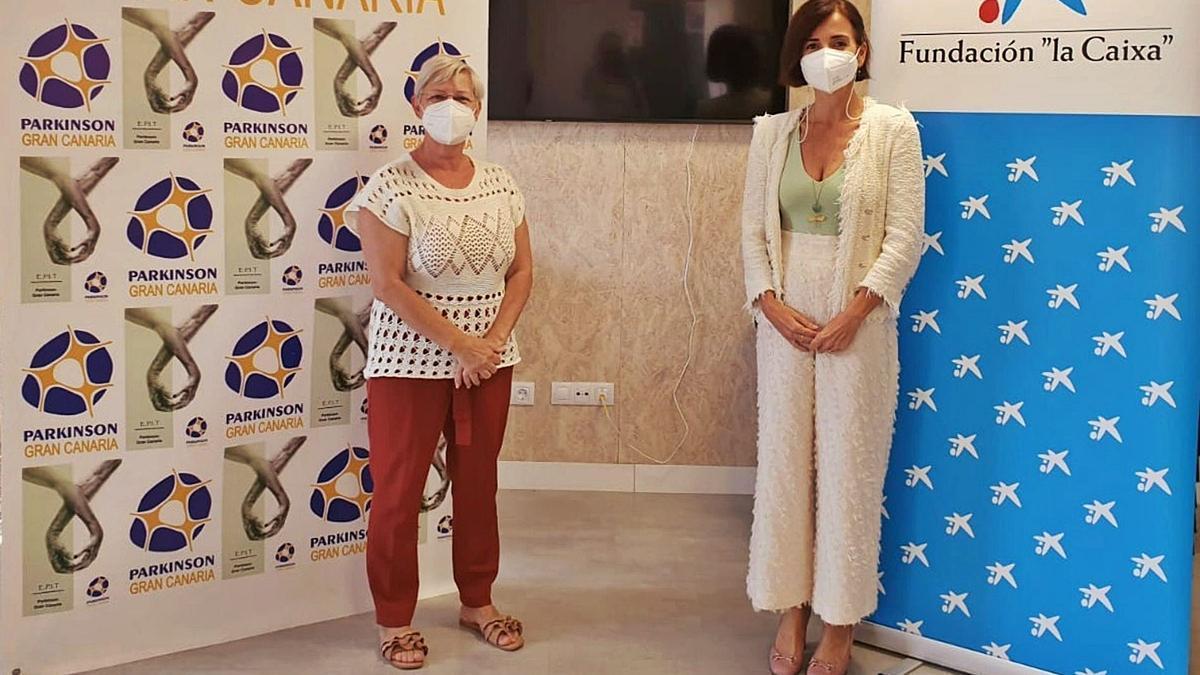 María Luisa Alemán con la Asociación del Parkinson.     LP/DLP