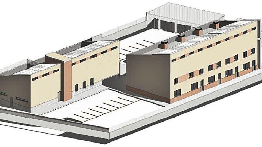 Así será el futuro cuartel de la Guardia Civil de Fuentesaúco