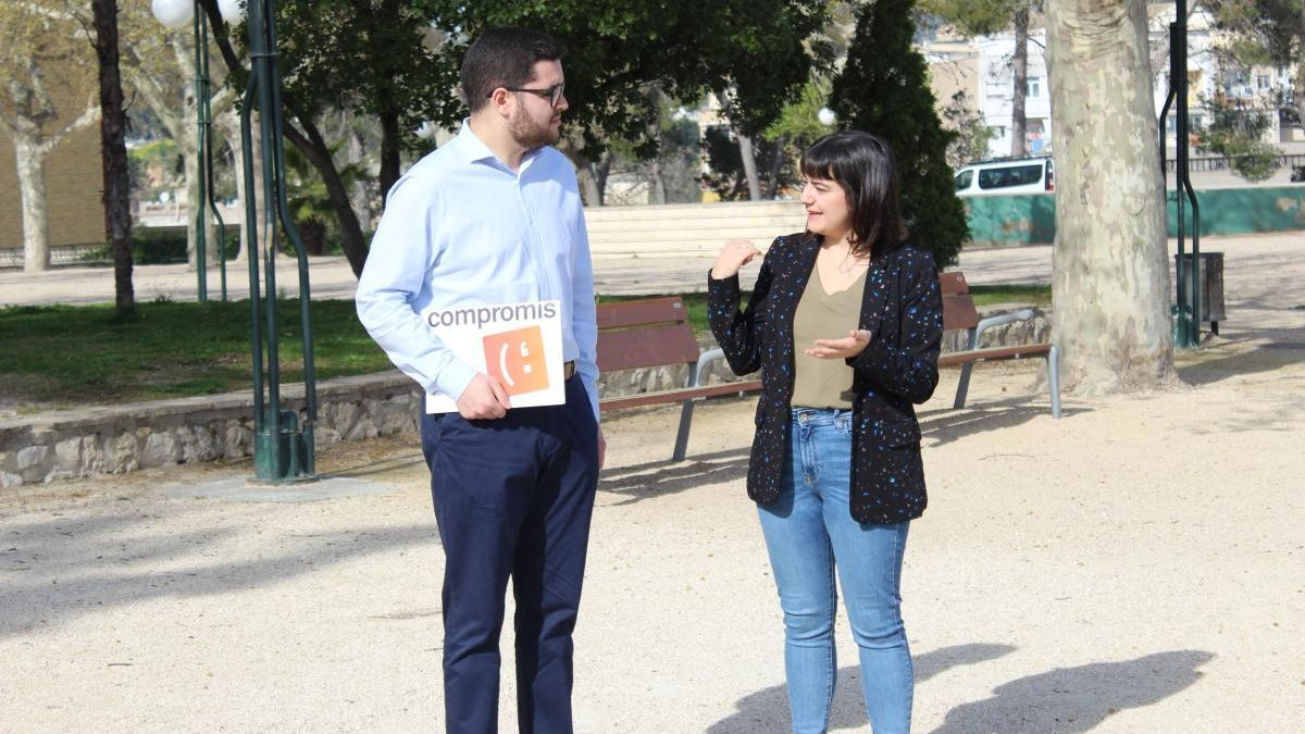 Los regidores de Compromís Nico Calabuig y Paloma Alberola