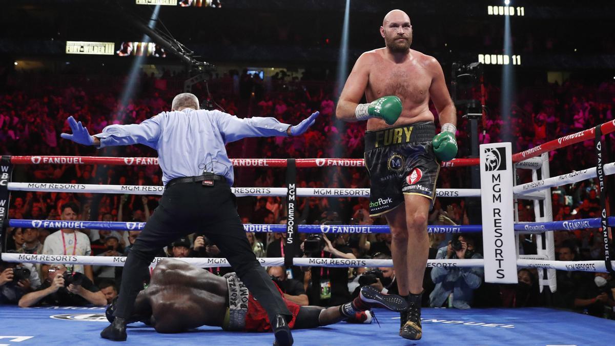 Tyson Fury, tras tumbar a Deontay Wilder.