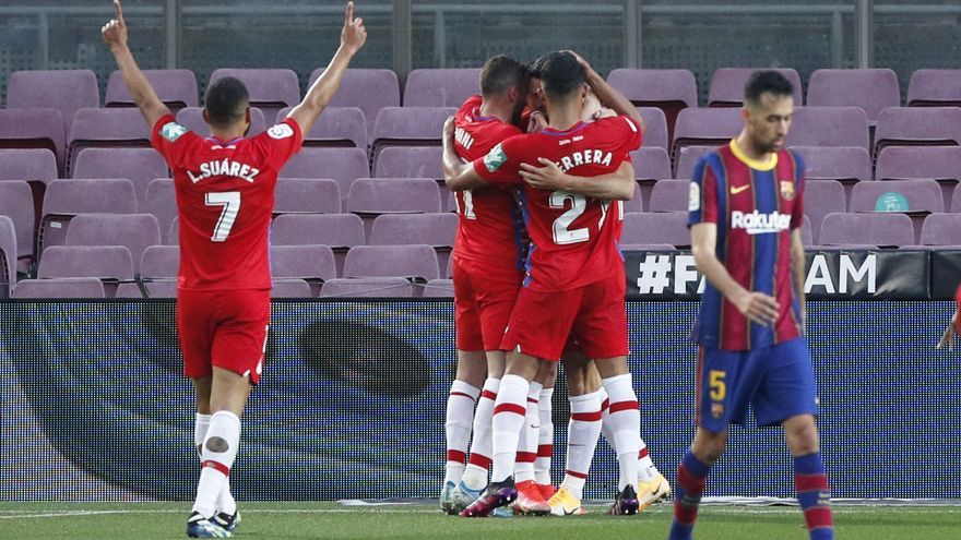 El Granada pone la Liga patas arriba e impide el liderato del Barcelona