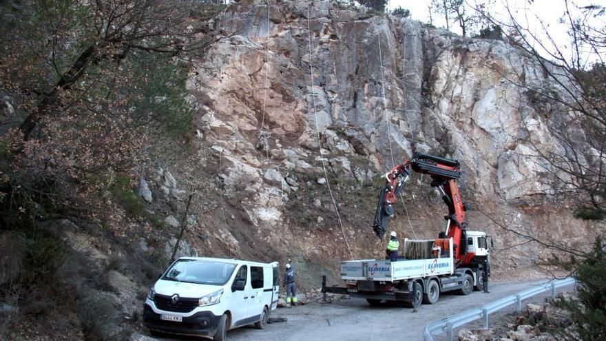 Ribera d'Urgellet protegeix el talús de la carretera a Torà de Tost, esllavissat el 2018