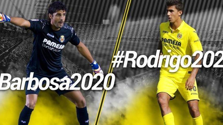El Villarreal CF ata a su perla Rodrigo hasta 2022 y renueva a Barbosa hasta el 2020