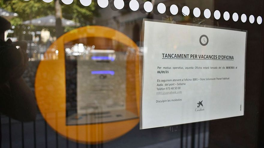 Els veïns de Sant Llorenç lamenten que l'oficina del seu únic banc torni a tancar