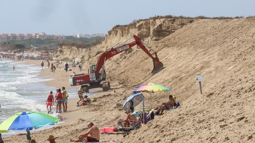 Peligro en la playa Vivers de Guardamar