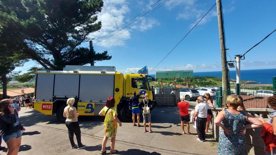 La rotura de una tubería de gas obliga a desalojar el camping de Perlora y el entorno de la Ciudad Residencial