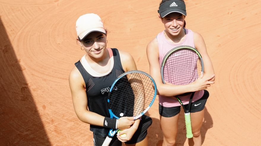 El día después de la victoria de Carreño, en el Club de Tenis de Avilés