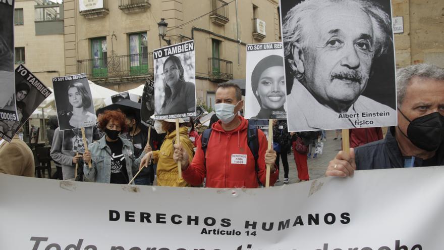 Marcha de apoyo a las personas refugiadas