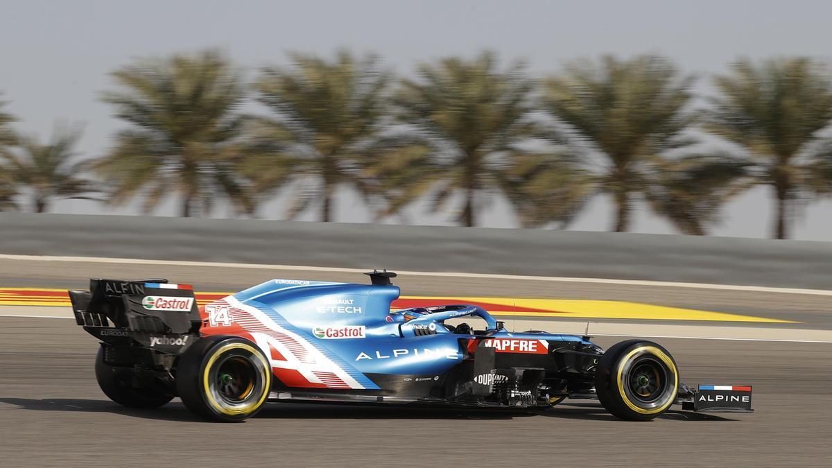Fernando Alonso, en el Gran Premio de Baréin.