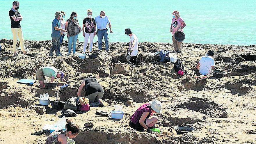 La Diputación protege el yacimiento del Prat de Cabanes del oleaje