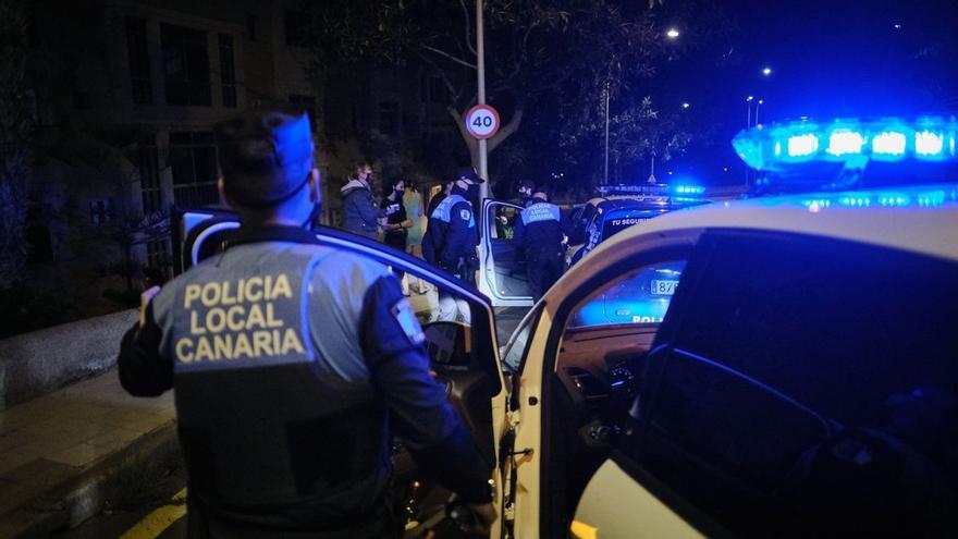 La Policía Local disuelve siete botellones en Santa Cruz de Tenerife