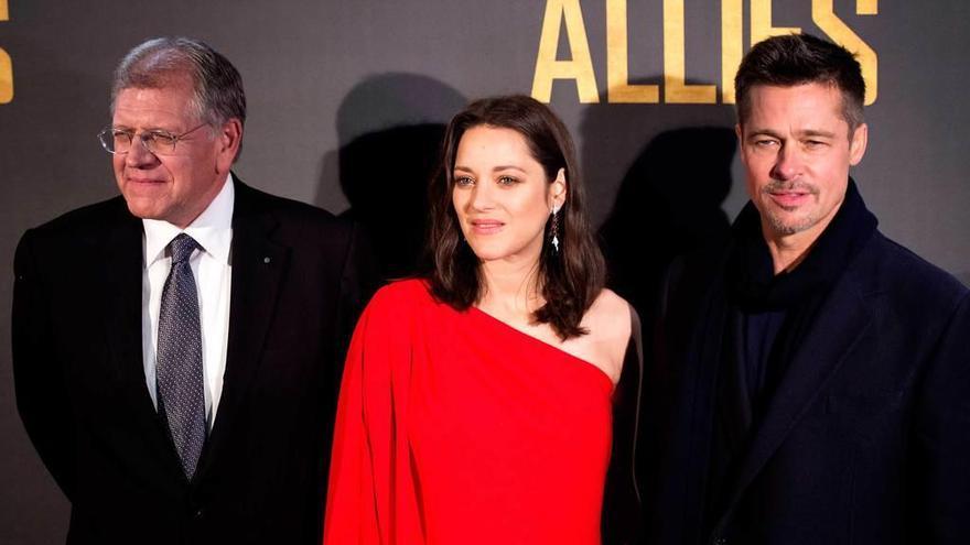 """Los """"aliados"""" Brad Pitt y Marion Cotillard llegan a España"""