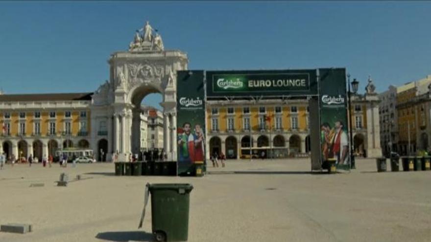 Lisboa calienta motores para la final de la Eurocopa