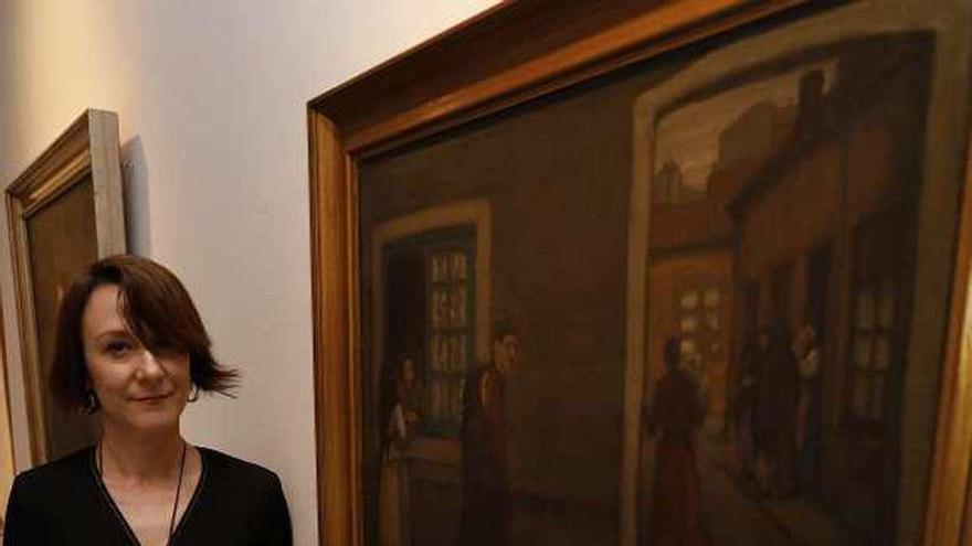 Nuria Vila, en el Museo Nicanor Piñole
