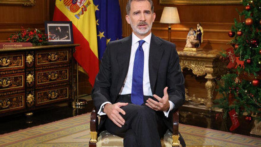 """Felip VI apel·la als """"principis morals i ètics"""" sense esmentar el seu pare"""
