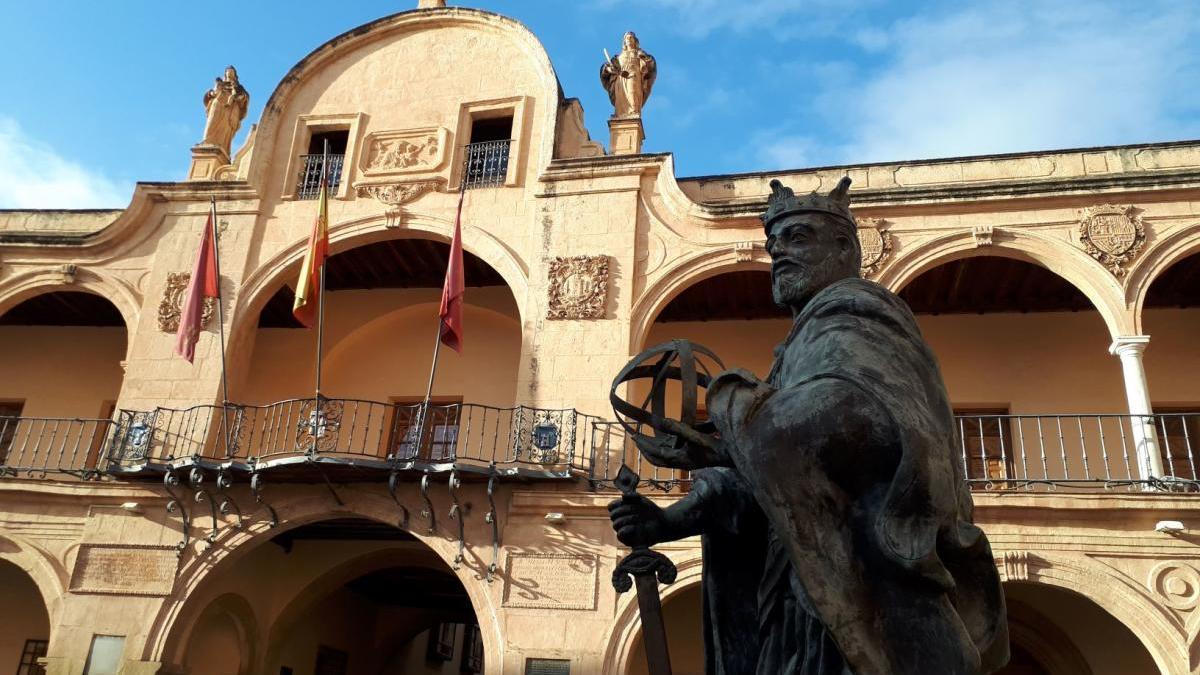 Detalle de la Plaza de España.