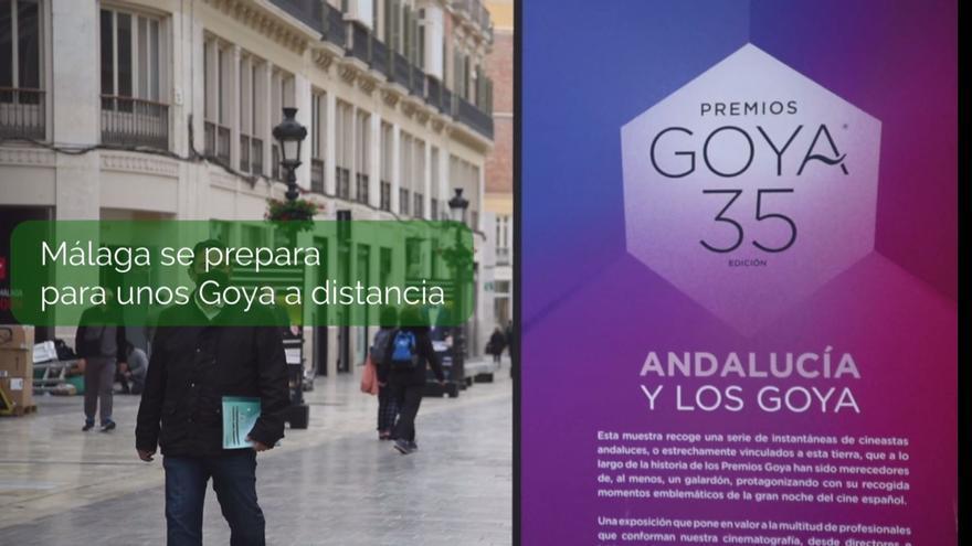 Málaga se prepara para los Premios Goya en plena pandemia