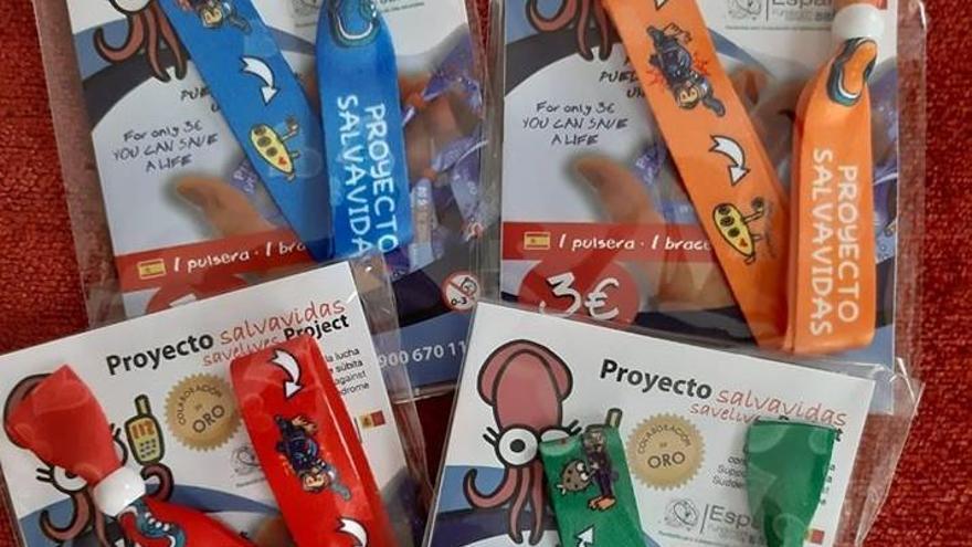 Villaralbo se vuelca con las 'pulseras salvavidas' para lograr un desfibrilador en el colegio