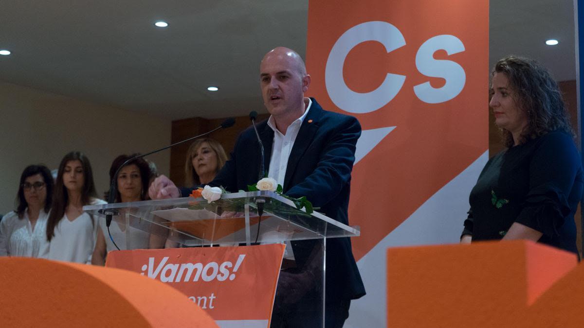 El portavoz de Ciudadanos y teniente de alcalde de Torrent, Raúl Claramonte