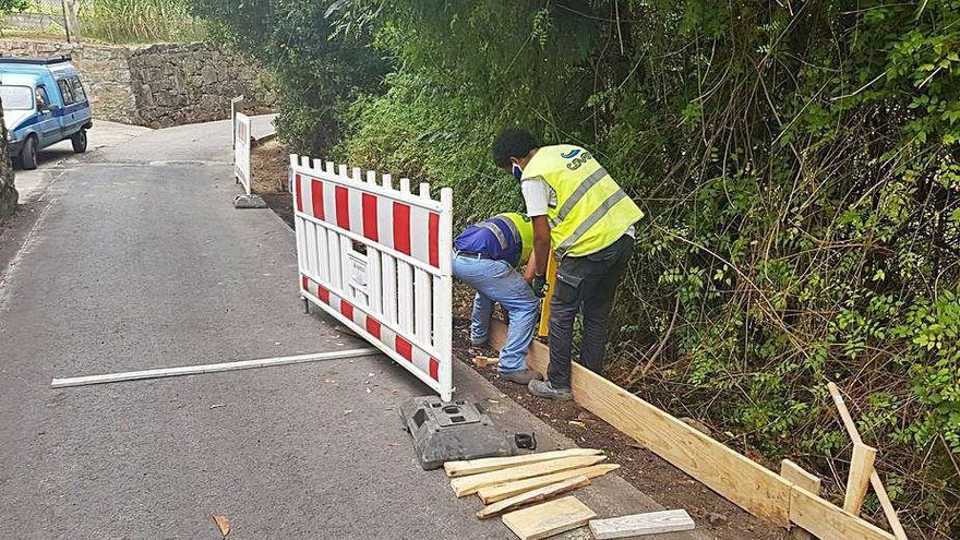 La reiniciada obra del Camiño Real se prolongará más de dos meses