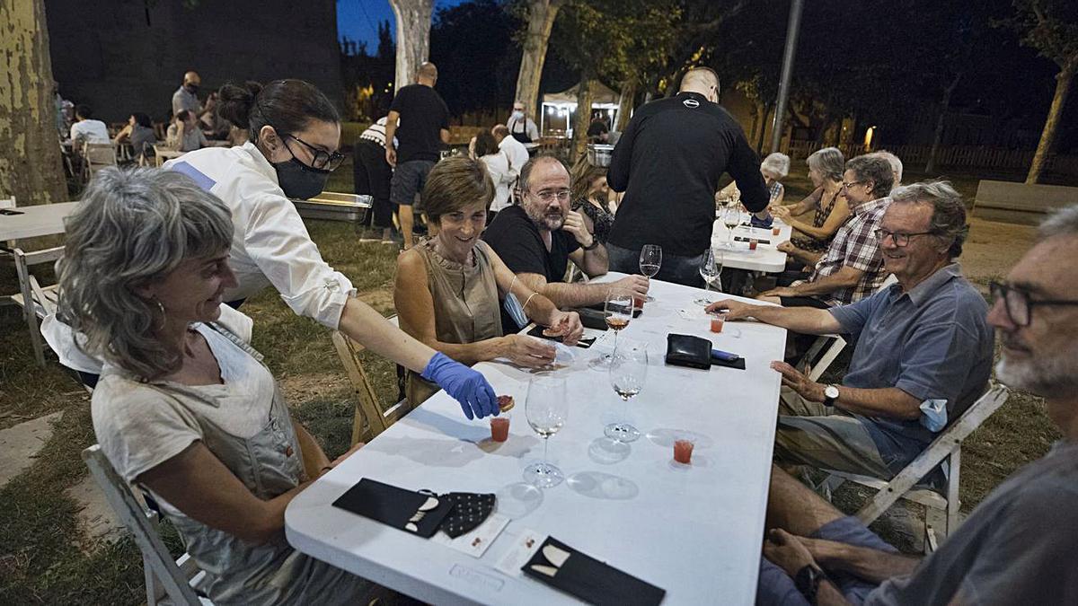 Sopar del Tomàquet celebrat dijous al parc de la Seu   MIREIA ARSO