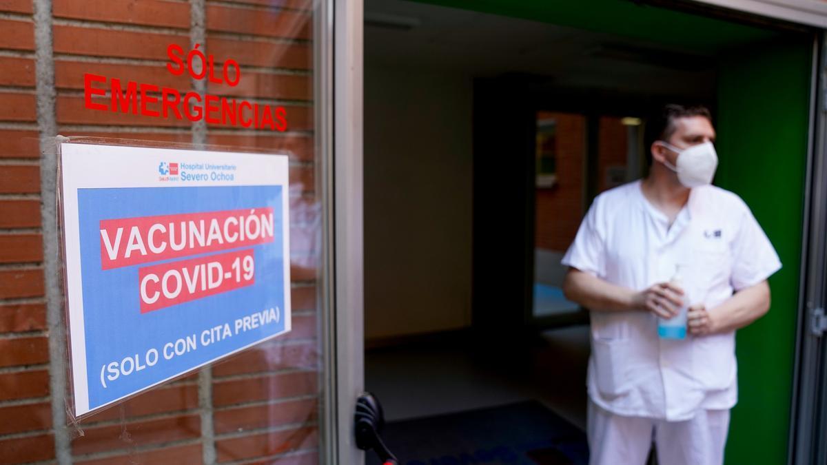 Centro de vacunación contra la COVID-19 en Madrid.