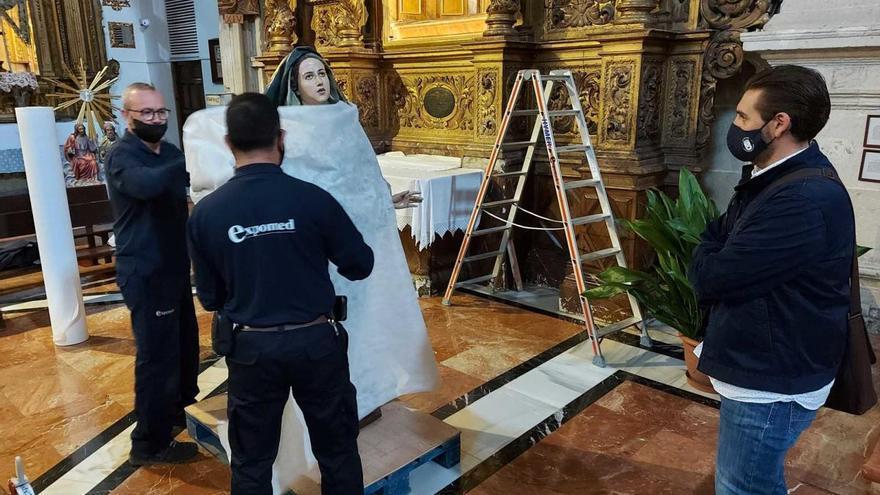 La Dolorosa de Caravaca pasará por el centro de restauración