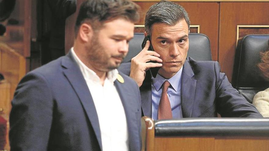 El PSC abortó el diálogo 'in extremis' entre ERC y Sánchez