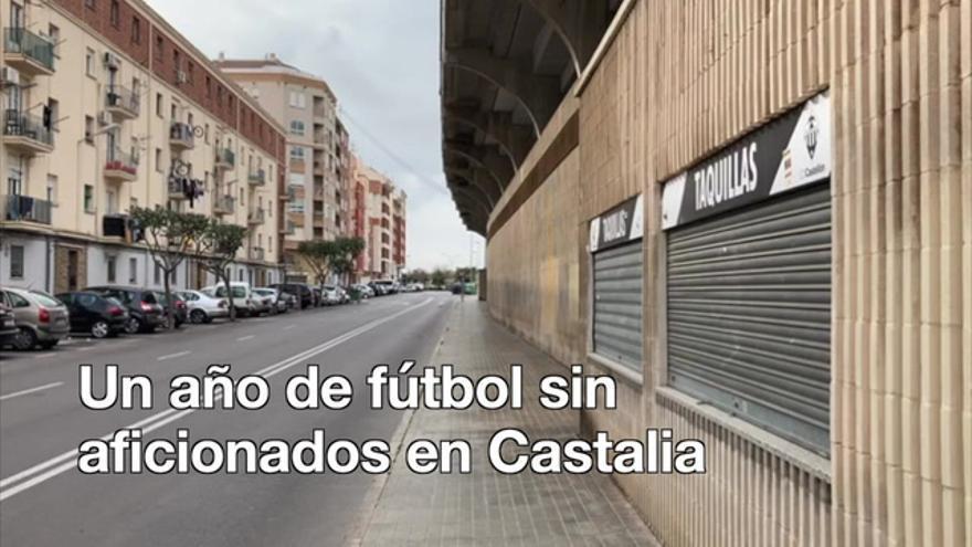 Un año de fútbol sin aficionados en Castalia