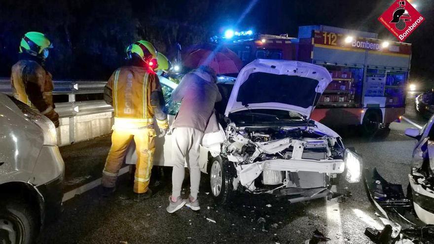 Dos heridos en un accidente a la salida del túnel del Mascarat en Calp