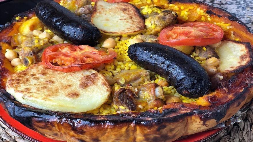 Arroz al horno en calabaza, conoce esta especialidad de la provincia de Castellón