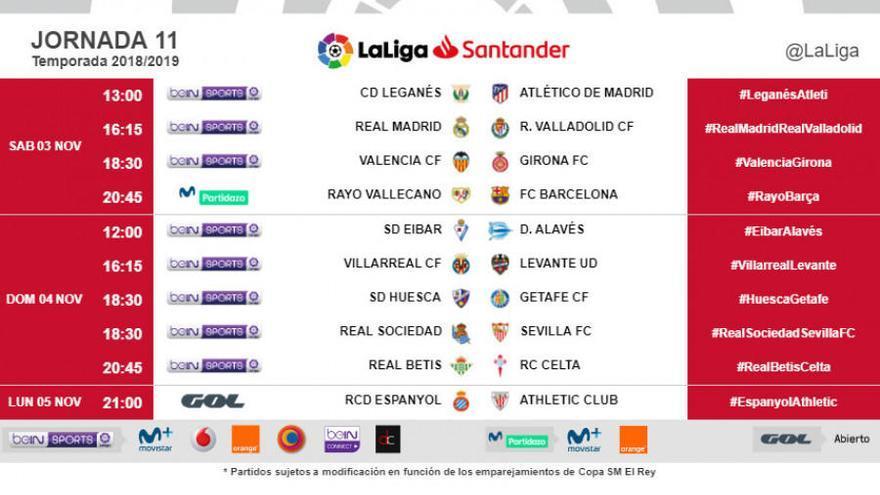 El Betis-Celta se jugará el domingo 4 de noviembre