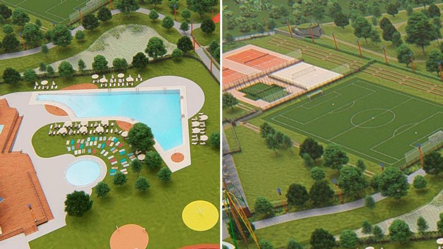 La 'raia' suma más atractivo: dos piscinas descubiertas y cinco pistas deportivas