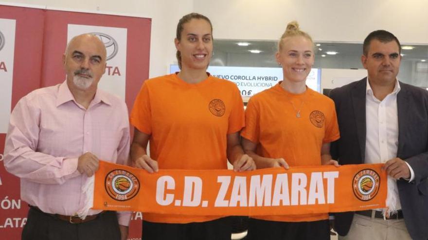 El CD Zamarat presentó a sus dos nuevas jugadoras Gala Mestres y Anna Silund