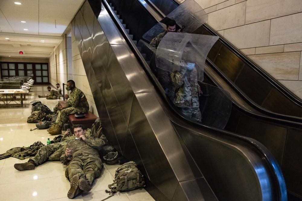 El desplegament de la Guàrdia Nacional al Capitoli, en fotos
