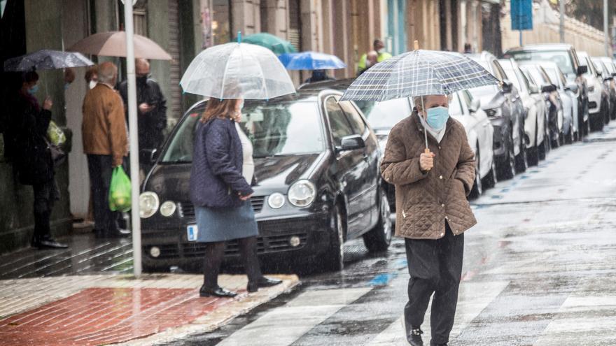 El tiempo en Alicante: cielos nubosos y lluvia esta tarde acompañada de barro