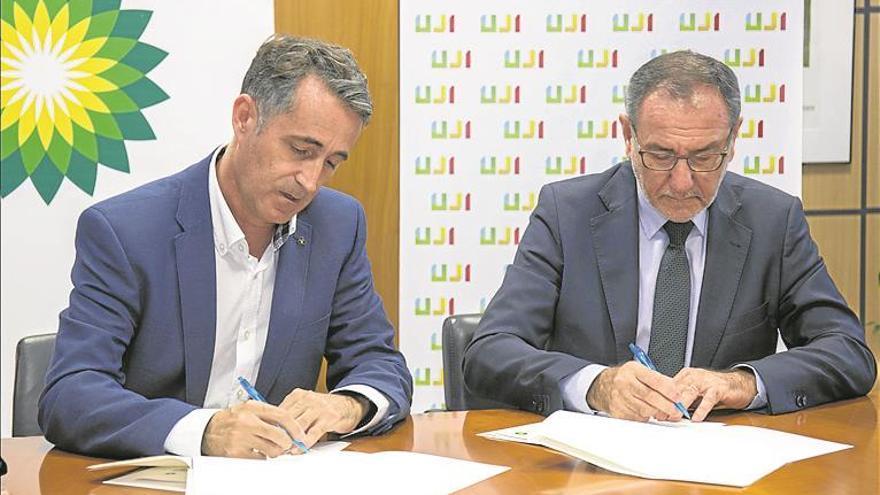 La UJI y BP Oil Castellón refuerzan su alianza en I+D+i y en movilidad