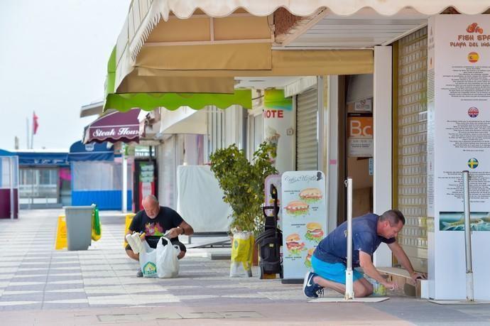 06-05-2020 SAN BARTOLOMÉ DE TIRAJANA. Pequeño comercio en el sur. En la imagen, comercios del Anexo (Playa del Inlés). Fotógrafo: Andrés Cruz    06/05/2020   Fotógrafo: Andrés Cruz