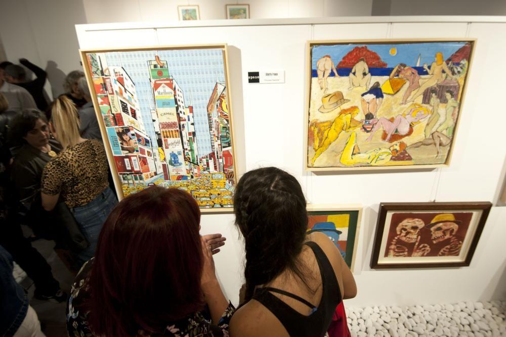 Inauguración de la galería Spazo en Os Mallos