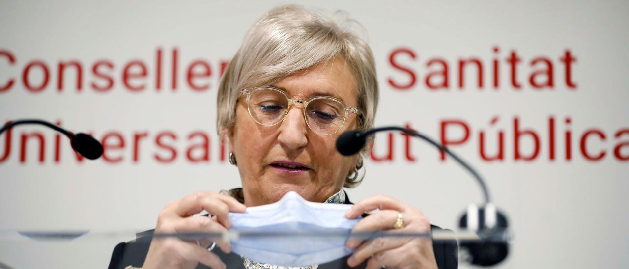 La consellera de Sanidad, Ana Barceló, en una comparecencia reciente para dar cuentas de la pandemia