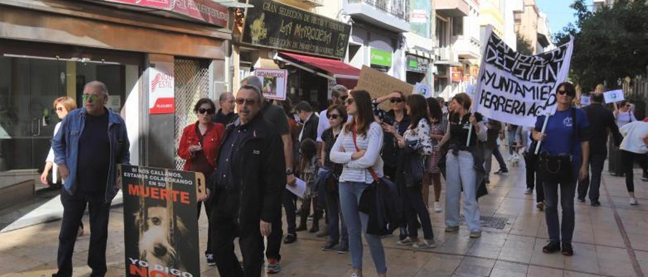 Protesta organizada por Spama en favor de las protectoras. | J. C,