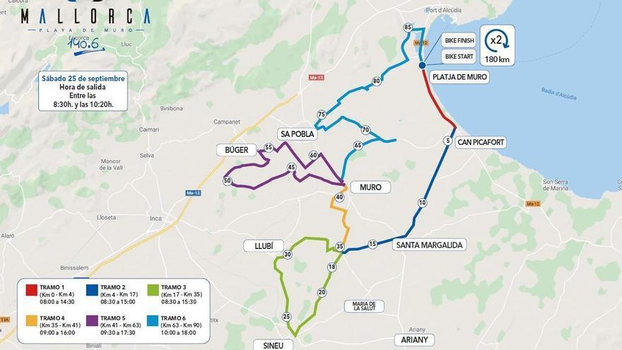 Carreteras cortadas mañana sábado por el Mallorca 140.6 Triathlon