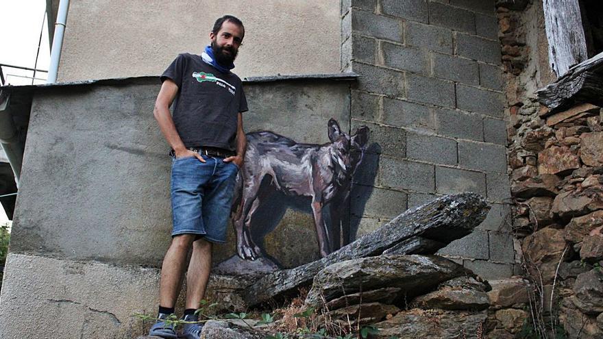 """Un lobo """"empadronado"""" en Terroso de Sanabria"""