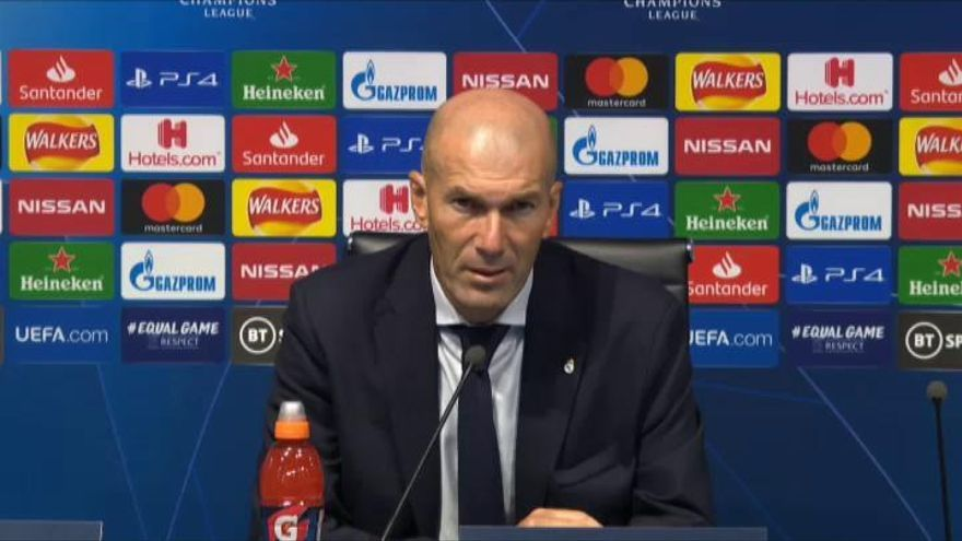 """Zidane: """"El 95 % de lo que hemos hecho en la temporada ha sido excelente"""""""