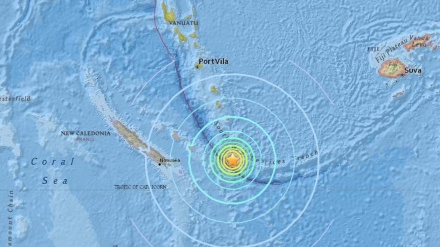 Alerta de tsunami tras un seísmo de 7,1 grados en Nueva Caledonia