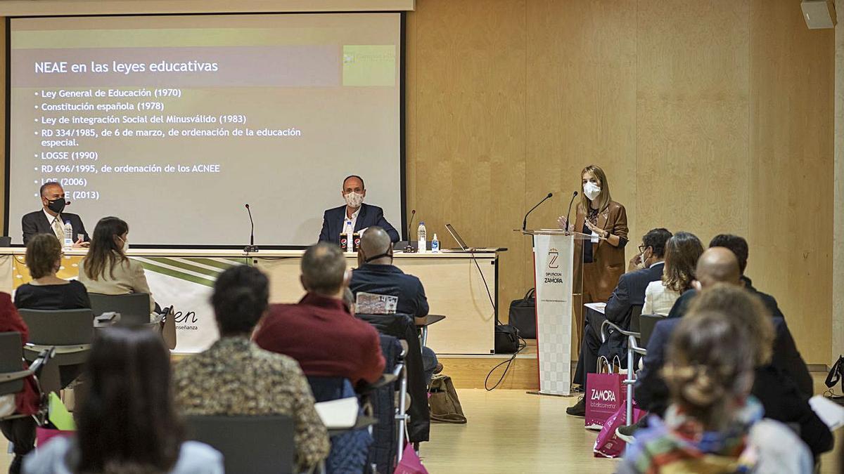 Un momento de las charlas que se impartieron en el Teatro Ramos Carrión. | Emilio Fraile