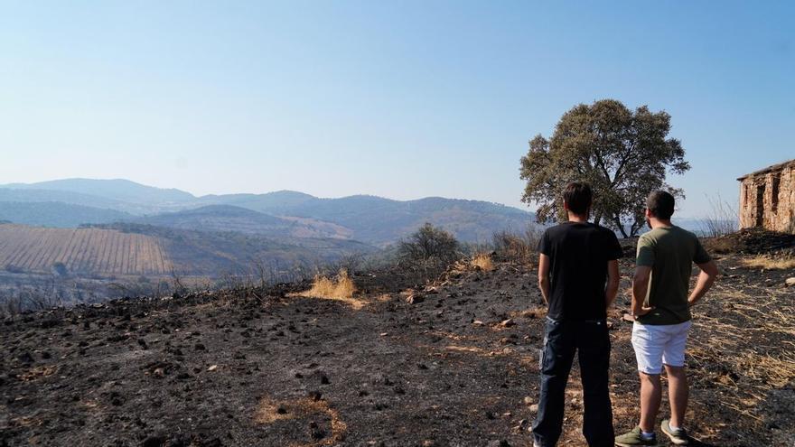 Los afectados por el incendio de Alcaracejos, a la espera del informe de las causas