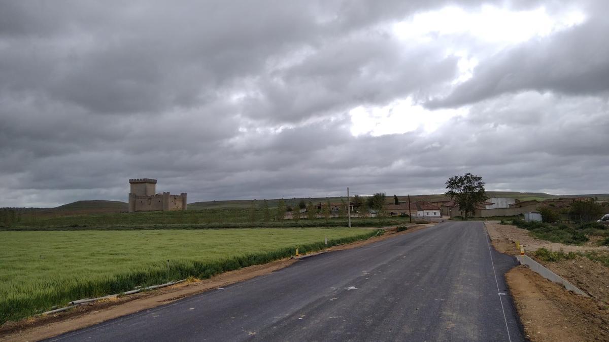Tramo de la carretera en el que la Diputación ya ha ejecutado obras de renovación del firme